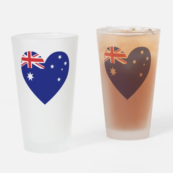 Australian Heart Drinking Glass