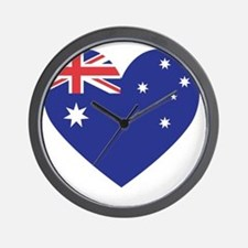 Australian Heart Wall Clock