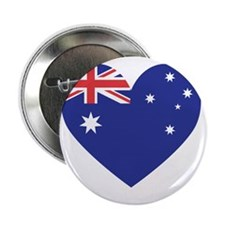 "Australian Heart 2.25"" Button"