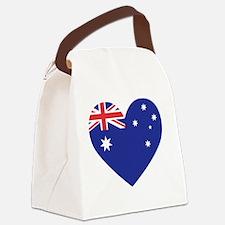 Australian Heart Canvas Lunch Bag