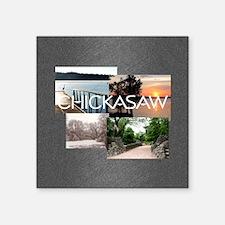 "chickasawsq Square Sticker 3"" x 3"""