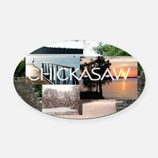 chickasaw1 Oval Car Magnet