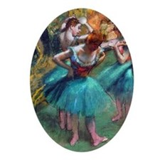 GC2 Degas GreenPink Oval Ornament