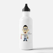 Man Muscles Water Bottle