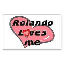 rolando loves me Rectangle Decal