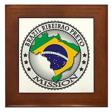 Brazil Ribeirao Preto LDS Mission Flag Framed Tile