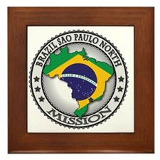 Brazil Sao Paulo North LDS Mission Fla Framed Tile