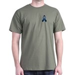 Dark Blue Awareness Ribbon Dark T-Shirt