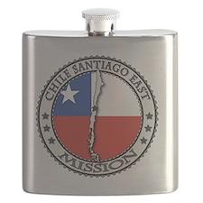 Chile Santiago East LDS Mission Flag Cutout  Flask