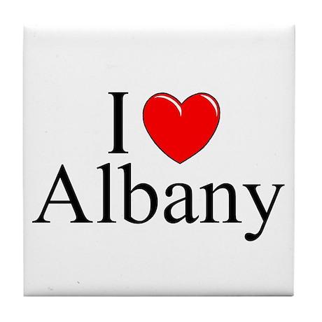 """I Love Albany"" Tile Coaster"