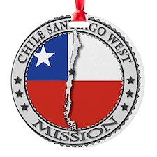 Chile Santiago West LDS Mission Fla Ornament