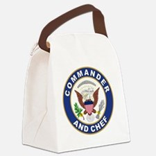 commander and chef Canvas Lunch Bag