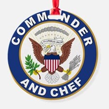 commander and chef Ornament