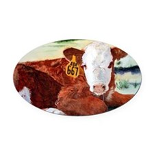 puzzcalf Oval Car Magnet