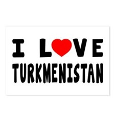 I Love Turkmenistan Postcards (Package of 8)