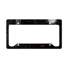 HAPPY-HAUNTING-LAPTOP License Plate Holder
