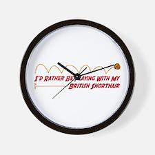 Playing Shorthair Wall Clock