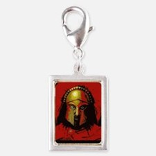 Spartan Silver Portrait Charm