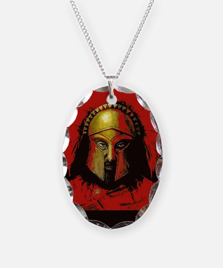 Spartan Necklace Oval Charm