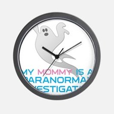 kids_mommy_shirt Wall Clock