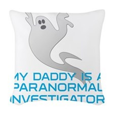 kids_daddy_shirt Woven Throw Pillow