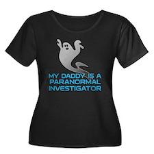 kids_dad Women's Plus Size Dark Scoop Neck T-Shirt