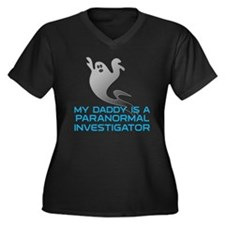 kids_daddy_s Women's Plus Size Dark V-Neck T-Shirt
