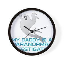 kids_daddy_shirt Wall Clock