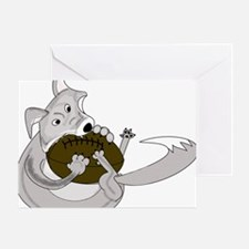 silve fox.gif Greeting Card