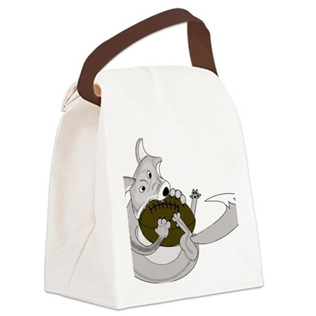 silve fox.gif Canvas Lunch Bag