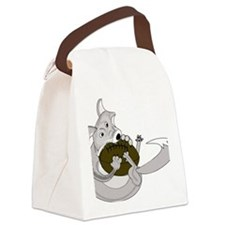 silve fox.gif Canvas Lunch Bag