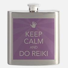SQ KEEP CALM PURPLE Flask