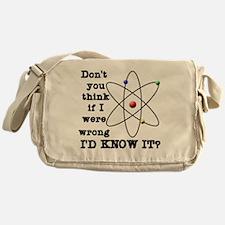 dont_you_think_black_letters Messenger Bag
