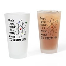 dont_you_think_black_letters Drinking Glass