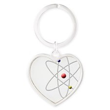 dont_you_think_white_letter Heart Keychain
