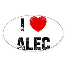 I * Alec Oval Decal