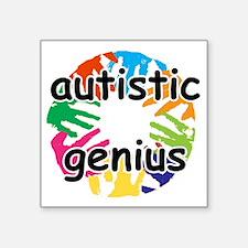 """autt geniu Square Sticker 3"""" x 3"""""""