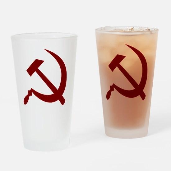 communistback Drinking Glass