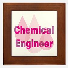 Pink Chemical Engineer Framed Tile