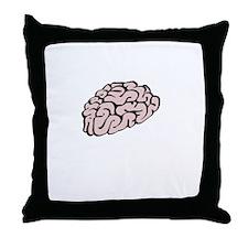 Lose My Mind White Throw Pillow