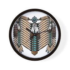 Native American - Breastplates - 002 Wall Clock