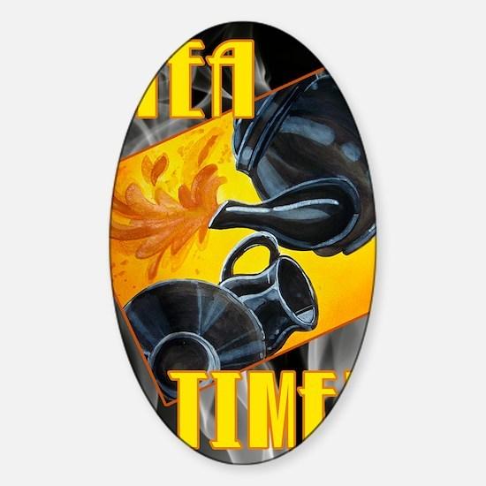 TEA-TIME-JOURNAL Sticker (Oval)