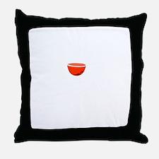 Wine Improves White Throw Pillow