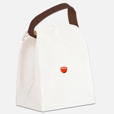 Wine Improves White Canvas Lunch Bag