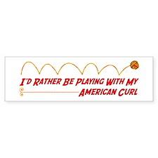 Playing Curl Bumper Bumper Sticker