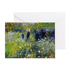 Laptop Renoir Parasol Greeting Card