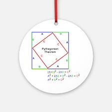 Pyth_Thm_WhiteShirt Round Ornament