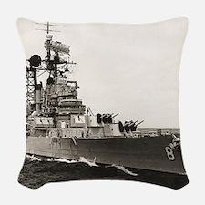 topeka framed panel print Woven Throw Pillow