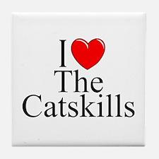 """I Love The Catskills"" Tile Coaster"