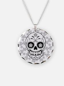 Sugar Skull.B  W Necklace